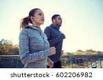 fitness  sport  people and... | Shutterstock . vector #602206982