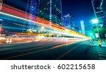 traffic through the modern city   Shutterstock . vector #602215658