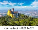 panoramic view of pena national ... | Shutterstock . vector #602216678