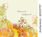 autumnal background | Shutterstock .eps vector #60222757