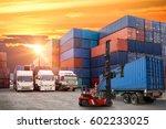 logistics and transportation of ...   Shutterstock . vector #602233025