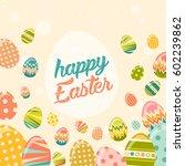 vector happy easter greeting... | Shutterstock .eps vector #602239862