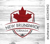 a canadian province crest on a... | Shutterstock . vector #602244542