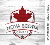a canadian province crest on a... | Shutterstock . vector #602244632