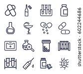 drug icons set. set of 16 drug... | Shutterstock .eps vector #602244686