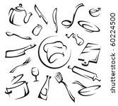 kitchenware   Shutterstock .eps vector #60224500