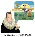 great spanish writer thinking...   Shutterstock .eps vector #602255828