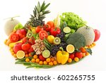 fresh fruits and vegetables | Shutterstock . vector #602265755
