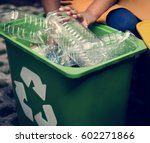 recycling plastic environment... | Shutterstock . vector #602271866