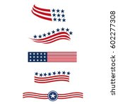 Usa Star Flag Logo Stripes...