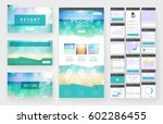 website template  one page... | Shutterstock .eps vector #602286455