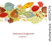 autumnal seamless background | Shutterstock .eps vector #60229174