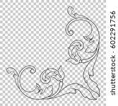 vintage baroque ornament retro... | Shutterstock .eps vector #602291756