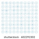 different lineart style icons... | Shutterstock .eps vector #602292302