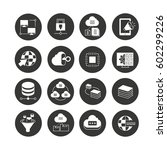 network and seo icon set in... | Shutterstock .eps vector #602299226