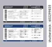 airline ticket boarding pass... | Shutterstock .eps vector #602299835