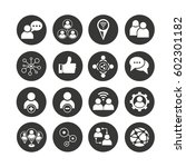 social network icon set in... | Shutterstock .eps vector #602301182