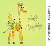 Birthday Card With Happy Animals