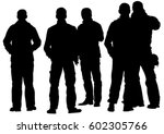 big crowds people on white...   Shutterstock .eps vector #602305766