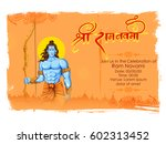 illustration of lord rama with... | Shutterstock .eps vector #602313452