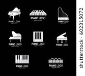 piano logo design template.... | Shutterstock .eps vector #602315072