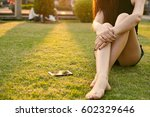 young woman legs on the... | Shutterstock . vector #602329646