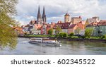 view of the old town of ... | Shutterstock . vector #602345522