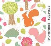 autumn forest seamless pattern   Shutterstock .eps vector #60234619