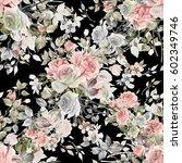seamless watercolor pattern... | Shutterstock . vector #602349746