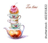 Party Colorful Tea Cup And...