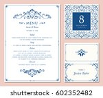 ornate classic templates set in ... | Shutterstock .eps vector #602352482