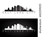 salt lake city usa skyline and... | Shutterstock .eps vector #602359055