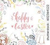 template card. vector... | Shutterstock .eps vector #602364122