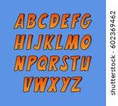 creative font. vector alphabet... | Shutterstock .eps vector #602369462