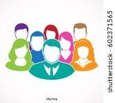 flat modern designn of the... | Shutterstock .eps vector #602371565