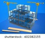 3d illustration of glass... | Shutterstock . vector #602382155