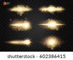 shining star  the sun particles ... | Shutterstock .eps vector #602386415