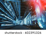 industrial zone  steel... | Shutterstock . vector #602391326