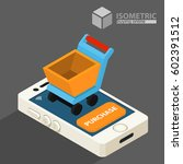 purchase  sale. shopping cart.... | Shutterstock .eps vector #602391512