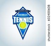 tennis logo   emblem template.... | Shutterstock .eps vector #602400608