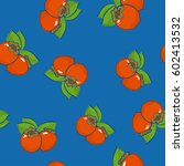 seamless pattern of persimmon   ... | Shutterstock .eps vector #602413532