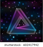 logo abstract cosmos background.... | Shutterstock . vector #602417942