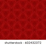 romantic geometric floral... | Shutterstock .eps vector #602432372