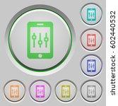 smartphone tweaking color icons ... | Shutterstock .eps vector #602440532