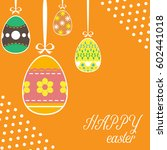 easter template annual report... | Shutterstock .eps vector #602441018