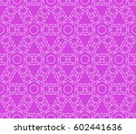 decorative geometric floral... | Shutterstock .eps vector #602441636