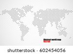 abstract world map of dots.... | Shutterstock .eps vector #602454056
