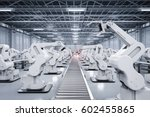 3d rendering robotic arm with... | Shutterstock . vector #602455865