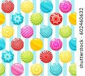 sweet candies seamless pattern... | Shutterstock .eps vector #602460632
