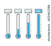 vector goal thermometers at... | Shutterstock .eps vector #602461586